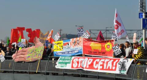 15 febbraio 2017: il Parlamento UE vota a favore del trattato CETA