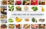 Carenza di magnesio:I sintomi e gli alimenti che ne contengono