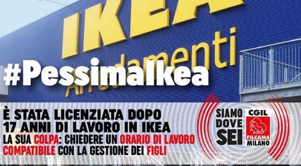 Ikea licenzia una madre perché non rispetta i turni di lavoro
