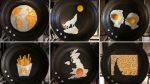 Opere d'arte realizzate con le  uova spopolano su Instagram