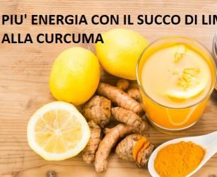 Succo di limone alla curcuma al mattino: un surplus di energia