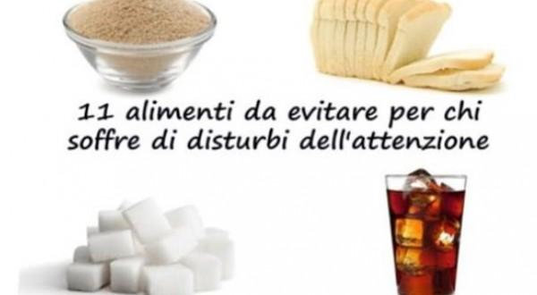 11 alimenti da evitare per chi soffre di disturbi dell'attenzione