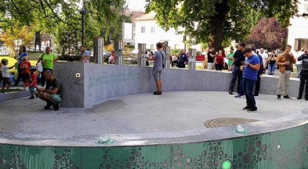 In Slovenia una fontana che eroga birra