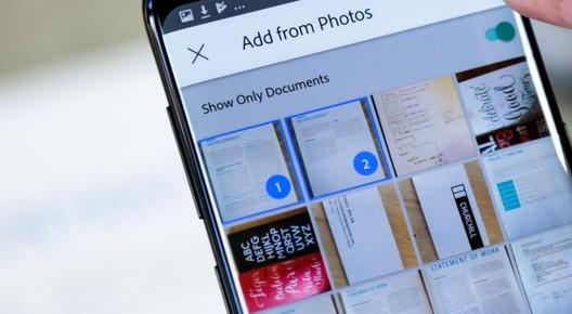 Adobe Scan trasforma i biglietti da visita in contatti telefonici