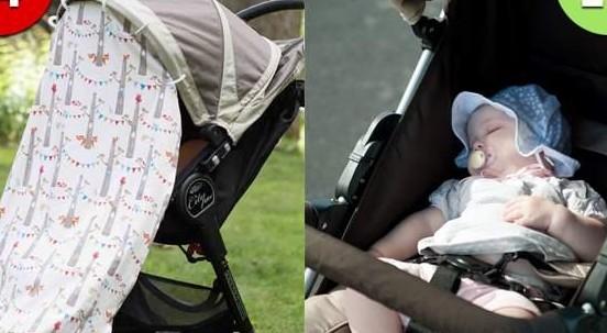 Ecco perché non dovresti mai coprire la carrozzina di tuo figlio d'estate