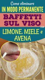 Baffetti labbro superiore: eliminarli naturalmente con miele, limone e avena