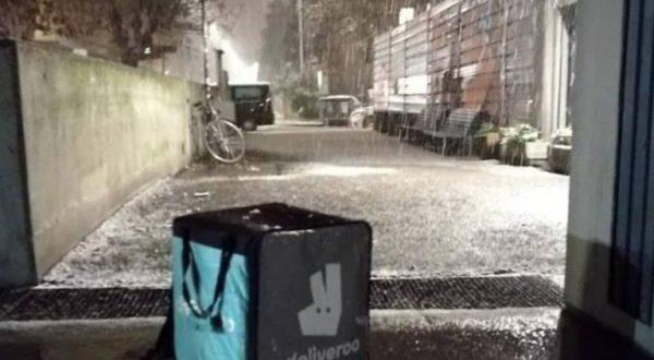 Riders Bologna, la protesta dopo la nevicata