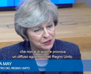 """Brexit, May: """"Da Tusk parole sconcertanti, ma con la Ue troveremo un accordo"""""""