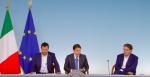 Consiglio dei Ministri n. 61, conferenza stampa Conte – Salvini – Giorgetti