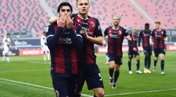 Il Bologna supera di misura il Crotone, decide Soriano