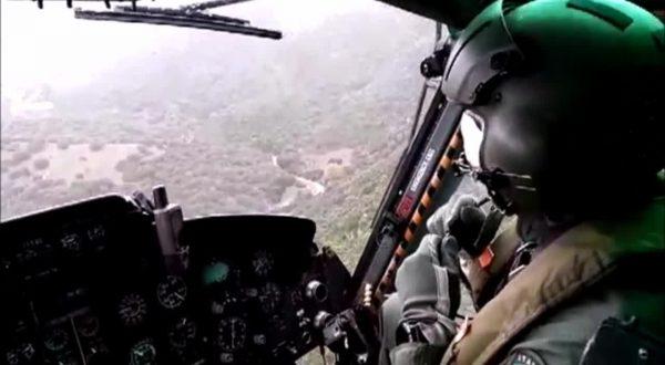 Maltempo in Sardegna, ricognizione elicottero della Protezione Civile
