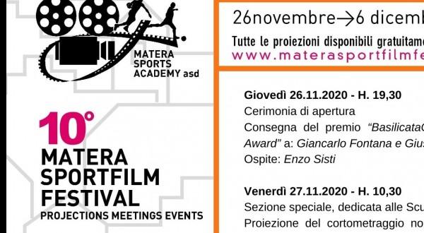 MATERA SPORT FILM FESTIVAL 2020: Cerimonia inaugurale