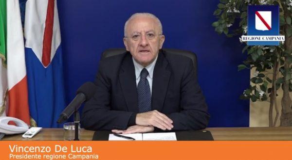 """Coronavirus, De Luca """"Ispettori in Campania una Cialtronata"""""""