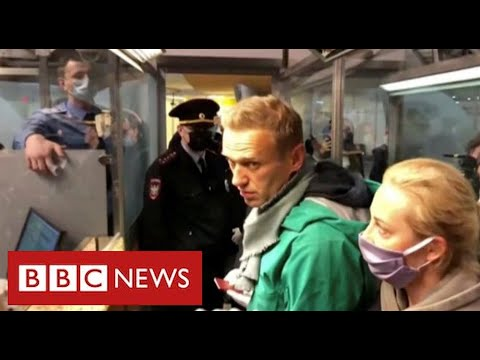 Kremlin critic Alexei Navalny arrested on return to Russia after nerve agent poisoning - BBC News