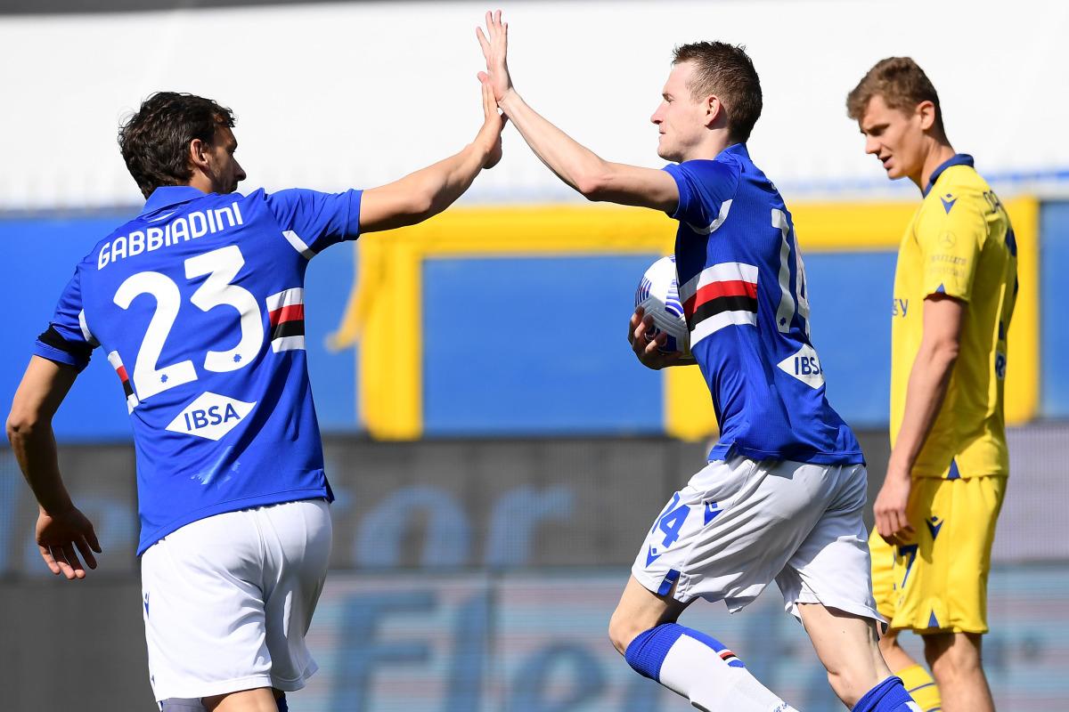 Vittoria in rimonta per la Sampdoria, 3-1 al Verona