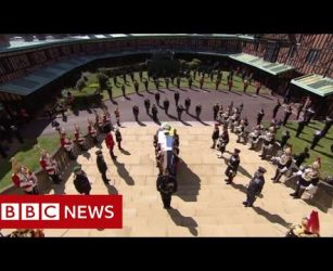 Minute's silence held for Prince Philip - BBC News