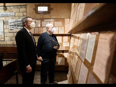25 Aprile, il Presidente Draghi all'Altare della Patria e al Museo della Liberazione di via Tasso