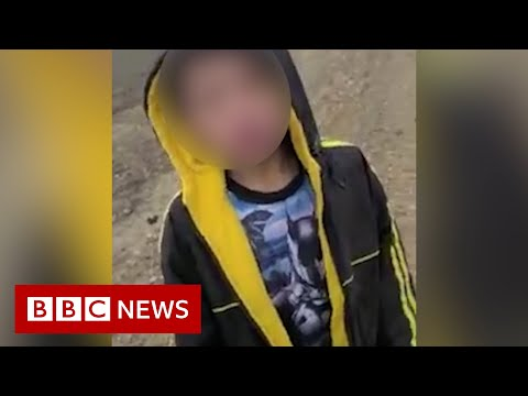 'Can you help me?': Boy in tears found alone at US-Mexico border – BBC News