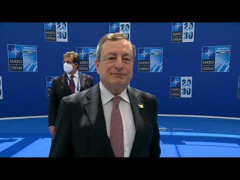 Il Presidente Draghi al Vertice Nato di Bruxelles, dichiarazione alla stampa
