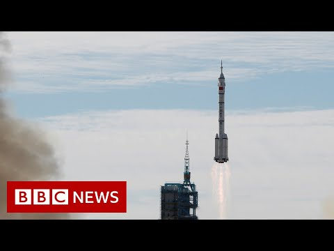 China launches first crew to new space station – BBC News