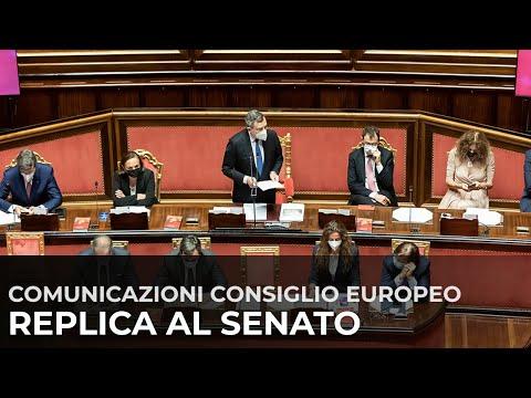 Consiglio europeo, la replica del Presidente Draghi al Senato della Repubblica