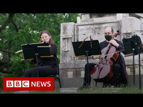The New York Philharmonic playing at a cemetery – BBC News