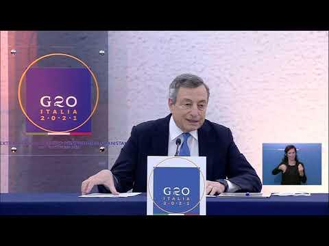 #G20 straordinario sull'Afghanistan, conferenza stampa del Presidente Draghi (audio originale)