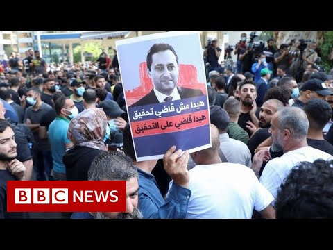 Two killed in protest over Beirut port blast judge – BBC News