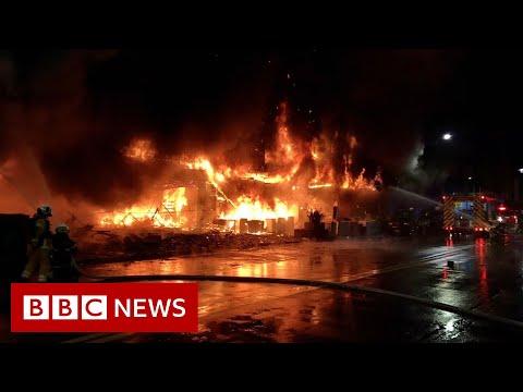 Dozens dead after fire at Taiwan 13-storey tower block – BBC News