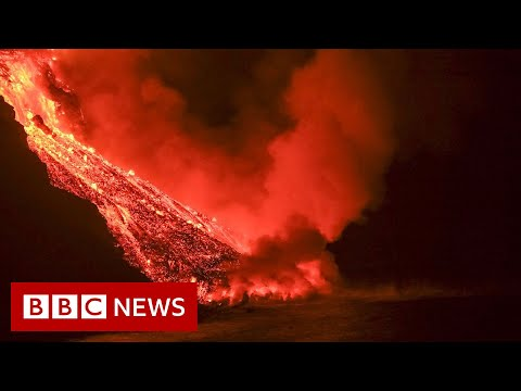 Lava continues to pour from La Palma volcano – BBC News